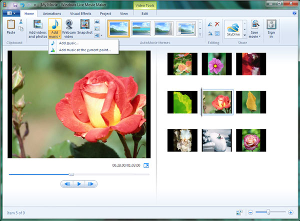 converter mp4 para o Windows Movie Maker