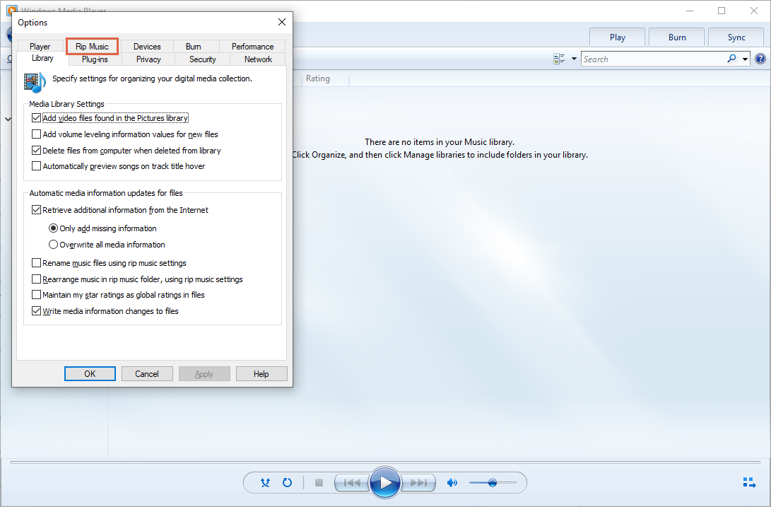 Hoe M4A naar MP3 Converteren in Windows Media Player
