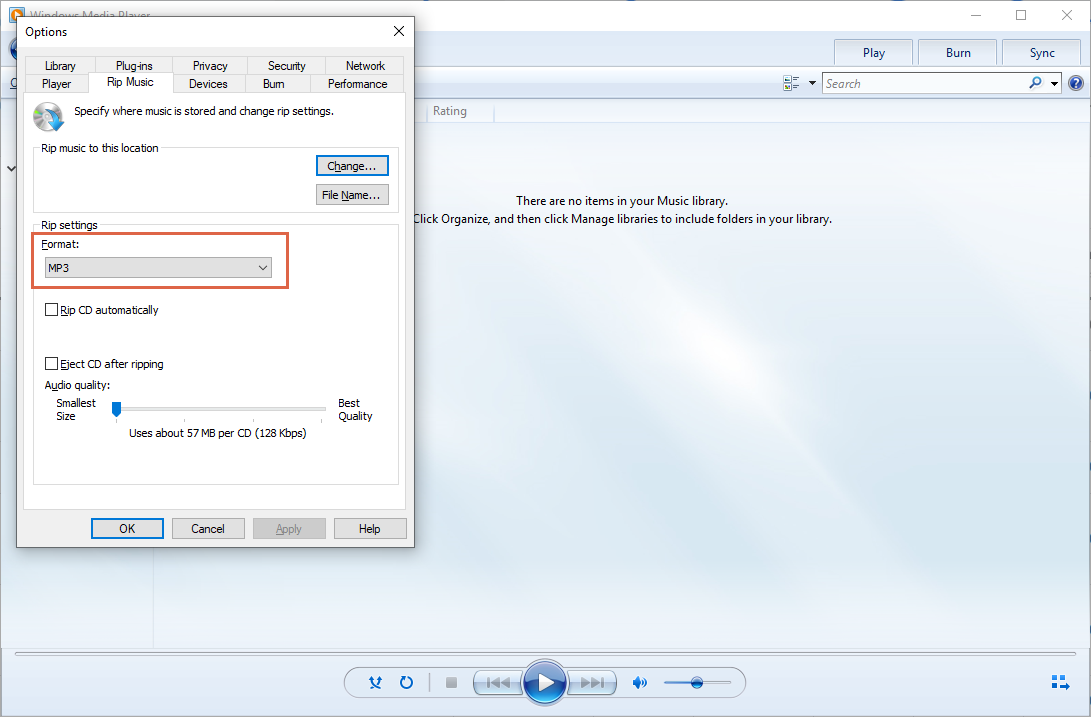 converter mp4 para mp3 no windows media player