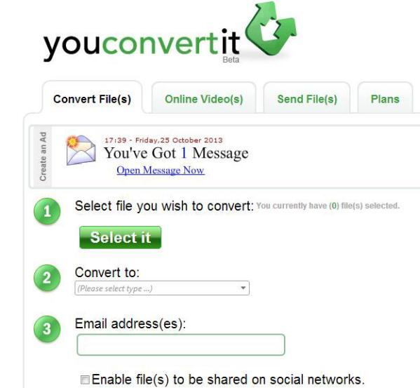 Online MP4 to WMA Converter youconvertit