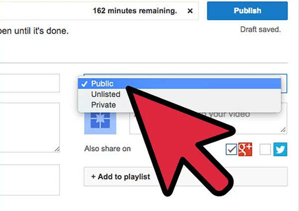 how to upload a private video to youtube