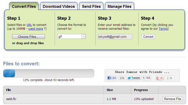 Online Flash to MP4 Converter zamzar