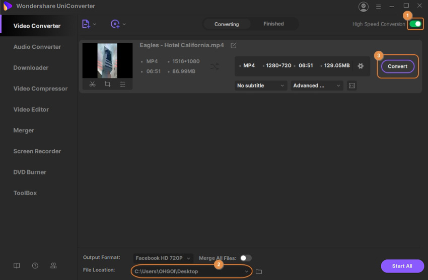 convert video for social network