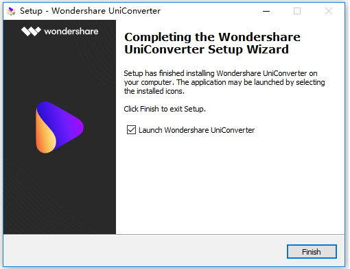 install and launch uniconverter