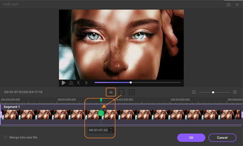 تقليم الفيديو باستخدام إيميديا تحويل ديلوكس ماك